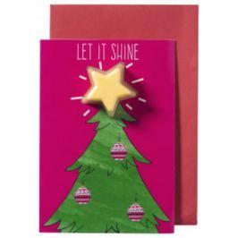Bomb Cosmetics Vánoční strom Vánoční přání s balistikem 40 g