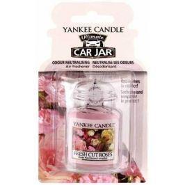 Yankee Candle Fresh Cut Roses - Čerstvě nařezané růže gelová vonná visačka do auta 30 g