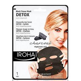Iroha Detox Látková maska s dřevěným uhlím a kyselinou hyaluronovou 23 ml