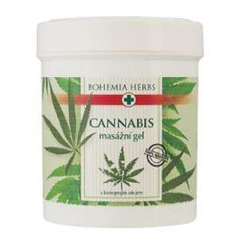Bohemia Gifts Cannabis konopný masážní gel mentholem a výtažky z kaštanu, kostivalu, kafru a eukalyptu pro masáž pokožky v oblasti unavených svalů, kloubů a šlach 125 ml