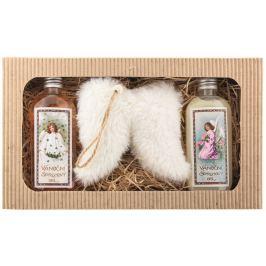Bohemia Gifts Vánoce sprchový gel 2 x 200 ml + Andělská křídla, kosmetická sada