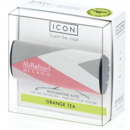 Millefiori Milano Icon Orange Tea - Pomerančový čaj vůně do auta Textil Geometric voní až 2 měsíce 47 g
