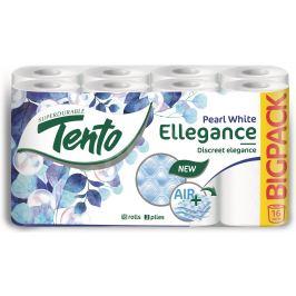 Tento Ellegance Pearl White toaletní papír 3 vrstvý 150 útržků 16 kusů