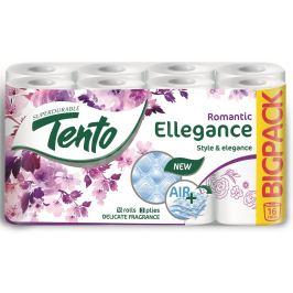 Tento Ellegance Romantic parfémovaný toaletní papír 3 vrstvý 150 útržků 16 kusů