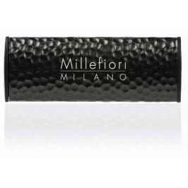 Millefiori Milano Icon Nero - Černá vůně do auta Shades Metal tmavě hnědá voní až 2 měsíce 47 g