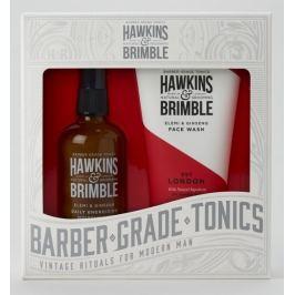 Hawkins & Brimble Men mycí gel na obličej 150 ml + pleťový krém 100 ml, kosmetická sada pro muže