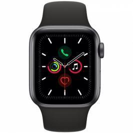Apple GPS 40mm pouzdro z vesmírně šedého hliníku - černý sportovní řemínek (MWV82HC/A)
