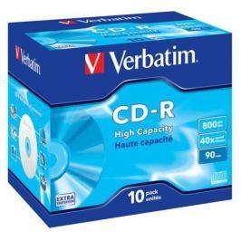 Verbatim CD-R DL 800MB/90min, 40x, jewel box, 10ks (43428)