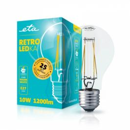 ETA RETRO LEDka klasik filament 10W, E27, teplá bílá (A60W10WWF)