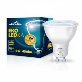 ETA EKO LEDka bodová 6W, GU10, teplá bílá (GU10W6WW)