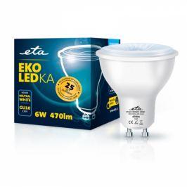 ETA EKO LEDka bodová 6W, GU10, neutrální bílá (GU10W6NW)
