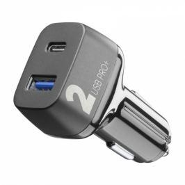CellularLine Car Multipower 2 PRO+, Smartphone Detect, USB, USB-C PD, QC 3.0, 36W (CBRUSB2QCPD36WK)