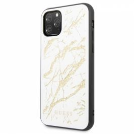 Guess Marble Glass na iPhone 11 Pro Max (GUHCN65MGGWH)