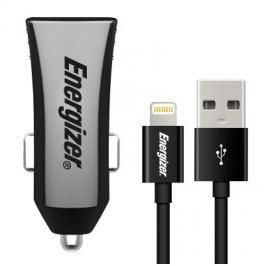 Energizer 2x USB 3,4A s Ligthning kabelem 1m, MFI (DCK2CULI3)