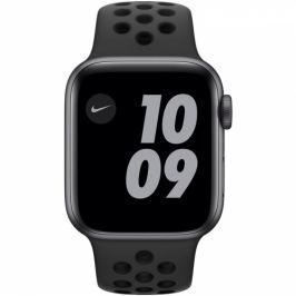 Apple GPS 40mm pouzdro z vesmírně šedého hliníku - antracitový/černý sportovní náramek Nike (MYYF2HC/A)