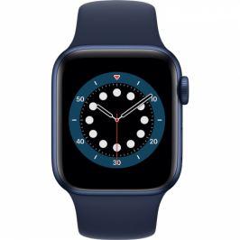 Apple GPS 44mm pouzdro z modrého hliníku - námořnicky tmavomodrý sportovní náramek (M00J3HC/A)