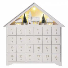 EMOS adventní kalendář, 35x30cm, 2x AA, vnitřní, teplá bílá (1534231600)
