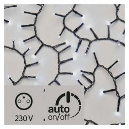 EMOS 600 LED, řetěz – ježek, venkovní, 12m, studená bílá, časovač (1534218300)