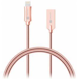 Connect IT Wirez Steel Knight USB/Lightning, ocelový, opletený, 1m (CCA-4010-RG)