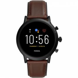 Fossil FTW4026 HR - Dark brown leather (FTW4026_Male)