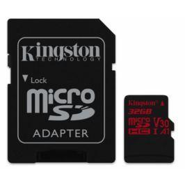 Kingston microSDHC 32GB UHS-I U3 (100R/70W) + adaptér (SDCR/32GB)