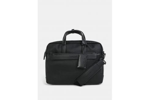 5078a30c77 Recenze Černá koženková taška na notebook Calvin Klein Jeans