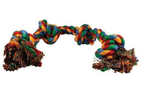 Uzel DOG FANTASY bavlněný barevný 4 knoty 60 cm Hračky pro psy