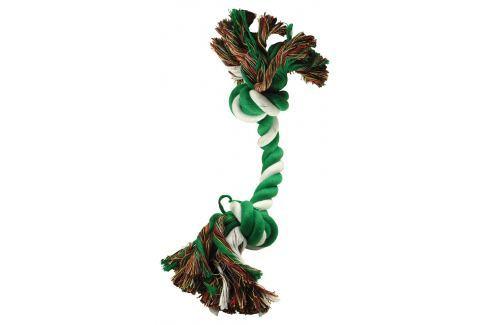 Uzel DOG FANTASY bavlněný zeleno-bílý 2 knoty 20 cm Hračky pro psy