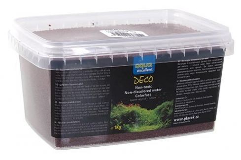 Písek AQUA EXCELLENT hnědočervený 1kg Akvarijní písky