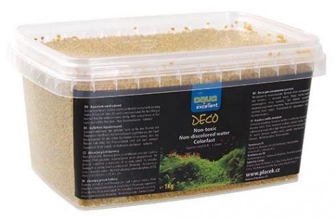 Písek AQUA EXCELLENT žlutý vanilkový 1kg Akvarijní písky