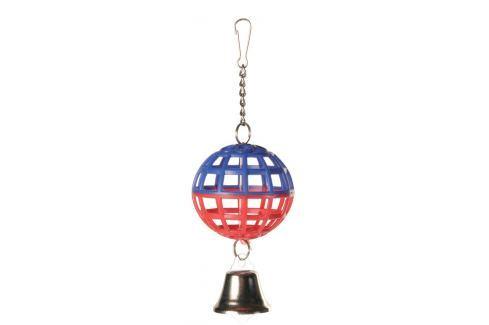 Hračka mřížovaný míč se zvonkem Trixie 7cm Hračky pro ptáky