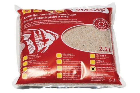 Písek křemičitý SPORTCARP bílý 1,3 mm 2,5l Akvarijní písky