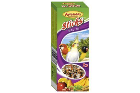 Tyčinky AVICENTRA ovocno - ořechové pro malé papoušky 2ks Krmivo a vitamíny pro ptáky