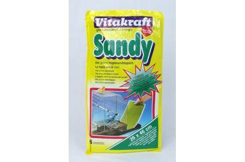 Podložka VITAKRAFT Sandy 46 x 26 cm 6ks Krmivo a vitamíny pro ptáky
