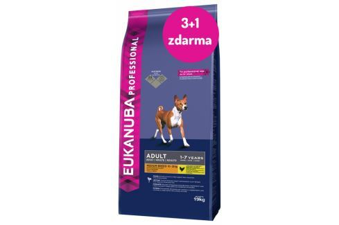 EBC Eukanuba Adult Medium breed 19kg 3+1 zdarma Výhodná balení
