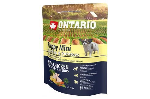 Ontario Puppy Mini Chicken & Potatoes 0,75kg Pro štěňata