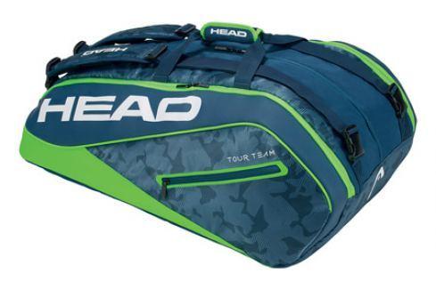 Taška na rakety Head Tour Team Monstercombi 12R Navy/Green Tenisové tašky