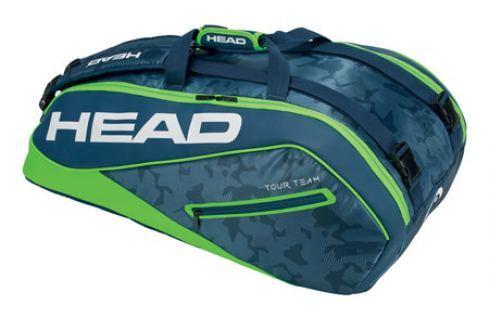 Taška na rakety Head Tour Team Supercombi 9R Navy/Green Tenisové tašky