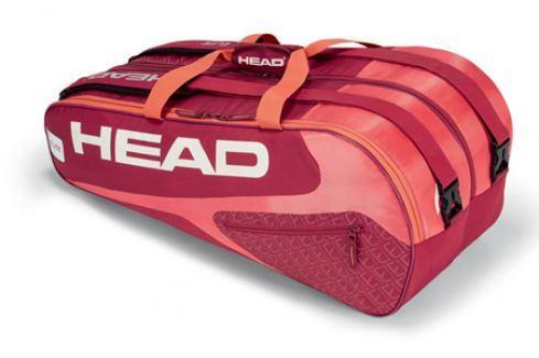 Taška na rakety Head Elite Supercombi 9R Red/Pink Tenisové tašky