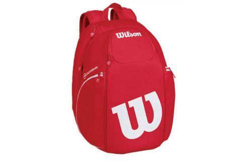 Batoh na rakety Wilson Vancouver Backpack Red Tenisové tašky
