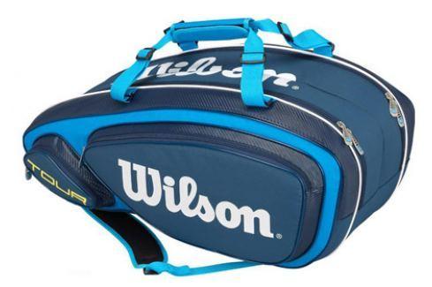 Taška na rakety Wilson Tour V 9 Pack Blue Tenisové tašky