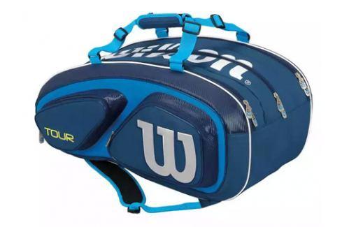 Taška na rakety Wilson Tour V 15 Pack Blue Tenisové tašky