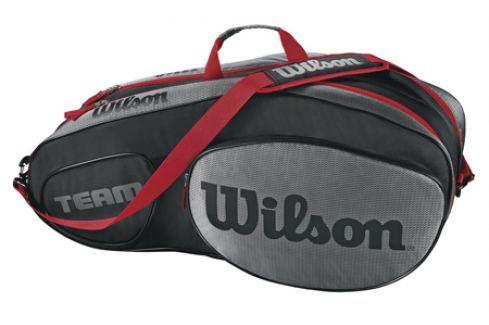 Taška na rakety Wilson Team III 6 Pack Black/Grey Tenisové tašky