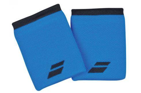 Potítka Babolat Logo Jumbo Wristband Blue (2 ks) Doplňky pro hráče