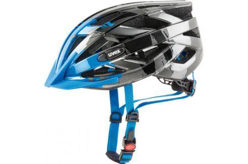Cyklistická helma Uvex I-VO C tmavě stříbrná-modrá 2017 Cyklistické helmy