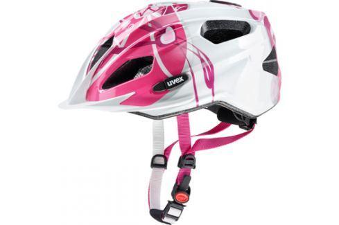 Dětská cyklistická helma Uvex Quatro Junior růžovo-stříbrná 2017 Cyklistické helmy