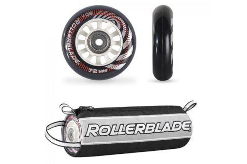 Inline kolečka Rollerblade 72 mm + ložiska SG5 + distanční vložky 6 mm Sady 8 ks koleček