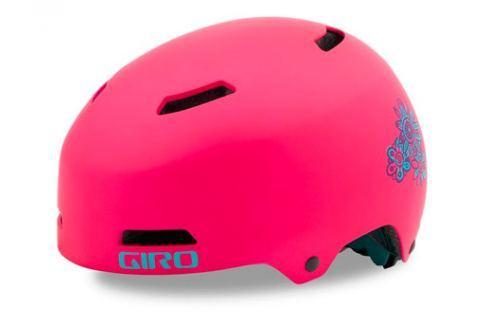Dětská cyklistická helma GIRO Dime FS matná růžová Cyklistické helmy