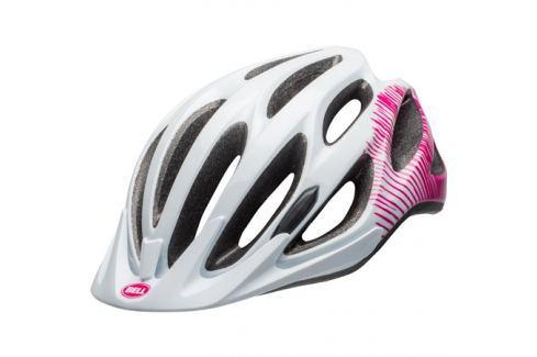 Dámská cyklistická helma BELL Coast lesklá bílá-růžová Helmy a přilby na in-line