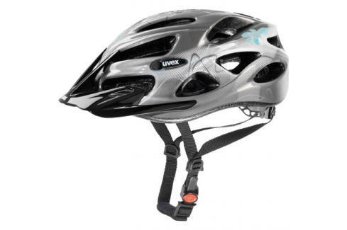 Dámská cyklistická helma Uvex Onyx Lady Line tmavě stříbrná-světle modrá Cyklistické helmy